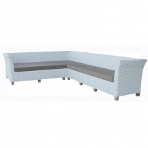 Manhattan Daybed with 3 seater White with beige mattress