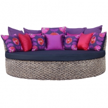 Austin Daybed - Water hyacinth with cushion set copy